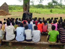 Outdoor classroom in Sindiru Village