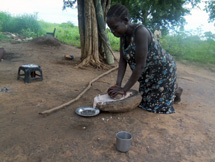 Woman Grinding
